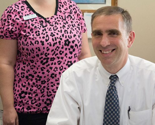 Dr. Tom Rennard with his assistant, Stephanie Franklin