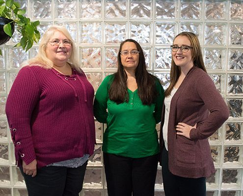 Insurance & Billing Specialists, Mary Jane Cooper and Debbie Shetley with Elizabeth Presley, Quality Assurance Coordinator